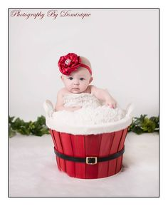 adorable Christmas baby photo!