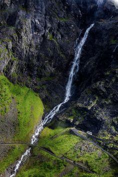 Trollstigen från ovan