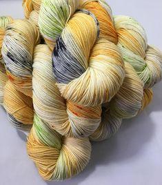 Pumpkin - Hand-dyed Sock / 4ply Peddero Merino & Nylon Yarn 75% Superwash Merino, 25% Nylon, 4ply, 100g, 464 yards/ 425 meters by YanTanTetheraYarns (Etsy affiliate link)