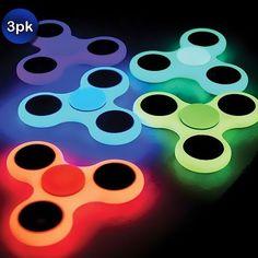 3 Pack: Glow in the Dark Fidget Spinners