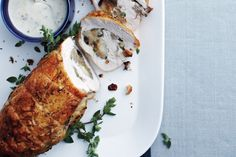 Rolled Cranberry Turkey Breast With Creamy Gravy