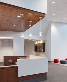 CentraCare Long Prairie has been vastly improved by installing SoundPly Alta Acoustic Panels as an acoustic solution. These panels are antimicrobial, sound absorbing, and made of beautiful real wood. Wood, Real Wood, Acoustic Solutions, Acoustic Panels, Ceiling Lights, Wall, Home Decor, Acoustic, Paneling