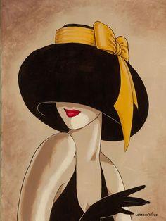 Sombrero Ode y la señora de La Que this sombrero. Artista Lorena Dell Wood. Debate Sobre LiveInternet - Servicio RUSOS Diarios Online