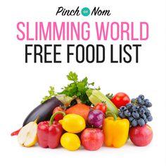 Slimming World Free Food List - Pinch Of Nom Healthy Food List, Healthy Chicken Recipes, Diet Recipes, Healthy Snacks, Slimming World Free Foods, Slimming World Recipes, Diet Snacks, Diet Meals, After Life