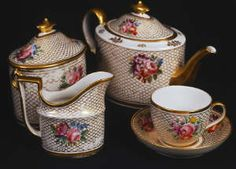 Vintage tea set / French-inspired design / c. late 17th century