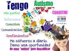 Cartel de autismo sin mitos para difundir