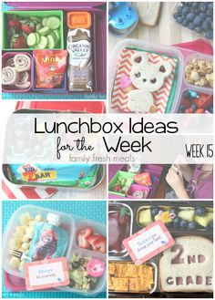 Now that school is back in session I am excited to share even more School Lunchbox Ideas and work lunch ideas. Here's what I packed for the week!