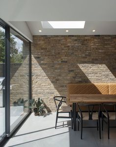 View full picture gallery of Dulwich Kitchen Extension Pitched Roof, Kitchen Diner Extension, House Extension Design, House Design, Side Extension, Brick Wall Kitchen, Dulwich Picture Gallery, Zinc Roof, Open Plan Kitchen Dining Living
