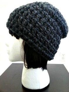 1ac176f140fef Free pattern  Winter chunky slouch hat - Free crochet pattern Gorritos  Crochet