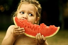 watermelon time -- kids eating summer fruits would make a great photo series.
