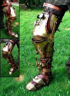 Great Mechanical Leg. E-O possibly have more external braces/ratchet wheel alongside knee joint...