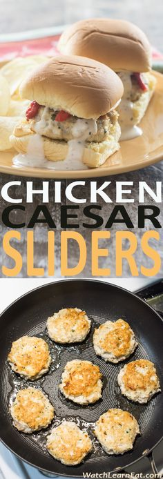 If you're a fan of Caesar dressing, you'll love these Chicken Caesar Sliders. They may be small, but they pack some big flavor! And, you can easily make them gluten free.