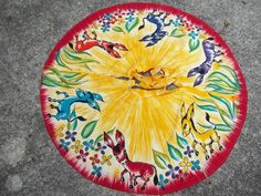 Vintage Mexican Hand Painted Circle Skirt Swing by ssmith7157, $62.99