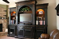Canvas of Cherry Wood Entertainment Center