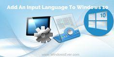 Add An Input Language To Windows 10