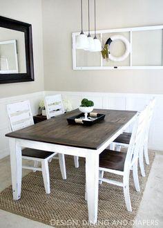 DIY Farmhouse Table Makeover