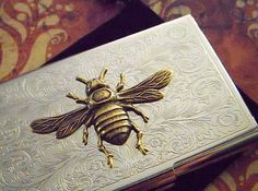 This Etsy seller makes the most beautiful business card holders and flasks I've ever seen!
