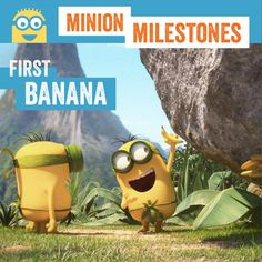 The Minions discovered their first banana under a rock. Do you remember the first time you tasted your favorite food?