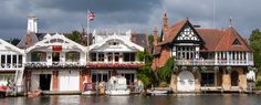 Boat Houses Along Thames in Henley