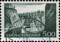 Ristikallio Gorge,  Finland  circa 1963