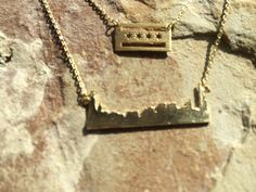 Chicago Flag Necklace and Chicago Skyline Necklace S by JushShop