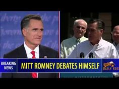 In this short video clip, (3 minutes) watch Mitt Romney debate himself with contradictory views and lies.