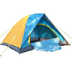 Z ZTDM® 2 Person Dome Double Layer Tent with Carry Bag for Camping Hiking Travel and More Blue