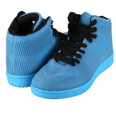 Hoodboyz Glow High-Sneaker blau – STYLEKINGZZ