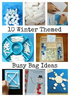 Winter Themed Busy Bag Ideas
