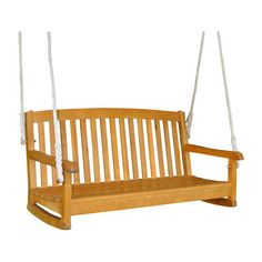 Beachcrest Home Bristol Hanging Porch Swing Finish: Natural Stain