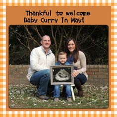 Thanksgiving pregnancy announcement!  Thank you Kellie and BJ!