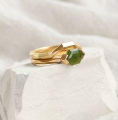 Bespoke Pounamu New Zealand Greenstone Ring by Courtney Marama Jewellery New Zealand Jewellery, Triangle Ring, Handcrafted Jewelry, Handmade, Contemporary Jewellery, Gold Pendant, Precious Metals, Wedding Rings, Pendants
