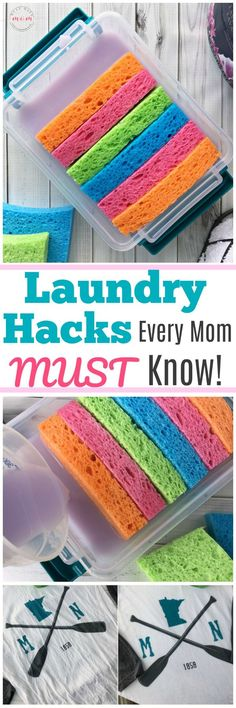 DIY Laundry hacks every mom MUST know! How to get wrinkles out of clothes fast + make your own reusable dryer sheets idea! Life hacks you need to know! Cleaners Homemade, Diy Cleaners, House Cleaners, Cleaning Solutions, Cleaning Hacks, Cleaning Schedules, Laundry Hacks, Laundry Rooms, Tips & Tricks