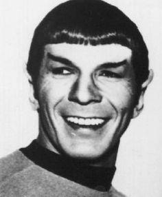 A smiling Mr. Spock
