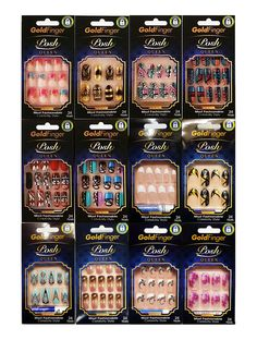 Kiss Gold Finger Losh Queen You Pick 1 . Kiss Press On Nails, Kiss Nails, Glam Nails, Cute Nails, Pretty Nails, Stick On Nails, Glue On Nails, Fake Nails For Kids, Louis Vuitton Nails