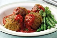 A simple Oat and chickpea dumplings with tomato sauce recipe for you to cook a…