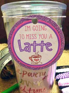 Top Going Away Gifts For Friends & Coworkers 2019 - Gift Ideas Corner Miss You A Latte. Goodbye Gifts For Coworkers, Presents For Best Friends, Leaving Party, Leaving Gifts, Leaving Presents, Farewell Parties, Farewell Gifts, Moving Away Parties, Motto