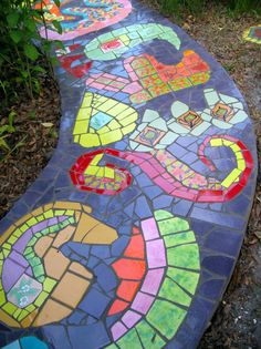 WALK THIS WAY TO FRONT DOOR Walk This Way, Mosaic Art, Home Art, Stained Glass, Bird, Stone, Outdoor Decor, House, Home Decor