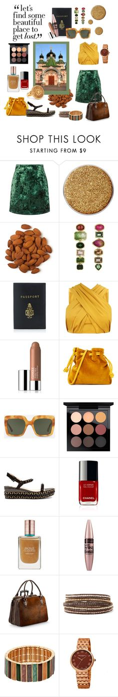 """""""Kiev"""" by belen-cool-look ❤ liked on Polyvore featuring Sandro, Suva Beauty, Mark Cross, Clinique, Clare V., Dolce&Gabbana, MAC Cosmetics, Christian Louboutin, Estée Lauder and Maybelline"""