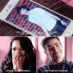 "#TheFlash 3x21 ""Cause and Effect"" - ""Um, I don't remember any of this, but even I can see how worong that look was. This is visual terrorism. I won't look at it anymore"" - #IrisWest #BarryAllen"