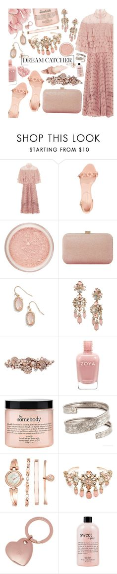 """dreamcatcher"" by tropicalcraze on Polyvore featuring Valentino, Avec Les Filles, Dune, Kendra Scott, Marchesa, Accessorize, philosophy, Anne Klein, Mulberry and Maybelline"