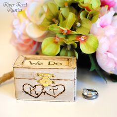 Rustic Wedding Ring Box Keepsake or Ring by RiverRoadRustics, $19.95