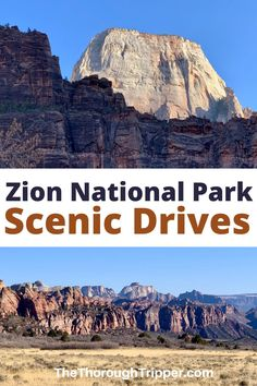 Majestic Zion National Park in southwest Utah is known for its towering sandstone peaks and famous hikes. It also boasts 4 spectacular Scenic Drives. I'll show you what there is to see while driving these 4 roadways in Zion #ZionNationalPark #Zion #Utah #UtahTravel