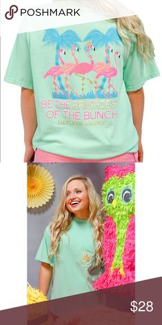 """Jadelynn Brooke Tee THEME """"Be The Brightest of the Bunch""""  Color: Mint Green Jadelynn Brooke Tops Tees - Short Sleeve"""