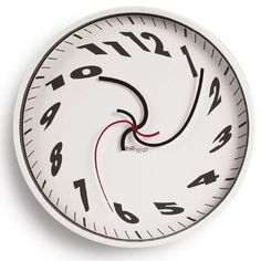 WHIRLED CLOCK    I wouldn't ever use this in my home, but It's a great idea and it blew me away.