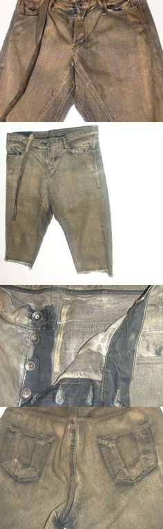 Jeans Pants and Shorts 166696: New $450 Rick Owens Short Jeans Size 34 Style Ds7302 -> BUY IT NOW ONLY: $69 on eBay!