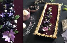 tarte-aux-mures-index Index, Blackberry, Table Decorations, Desserts, Food, Edible Flowers, Black Currant Juice, Quirky Cooking, Tailgate Desserts