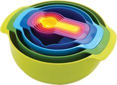 Bargain - $87.95 (was $149) - Joseph Joseph 9 Piece Nesting Bowls Set - The Home Essentials