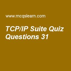 Learn quiz on tcp/ip suite, computer networks quiz 31 to practice. Free networking MCQs questions and answers to learn tcp/ip suite MCQs with answers. Practice MCQs to test knowledge on tcp/ip suite, flow and error control, networking layer delivery, bridges, random access worksheets.  Free tcp/ip suite worksheet has multiple choice quiz questions as icmp stands for, answer key with choices as internet connect message protocol, internet control message protocol, international connect…
