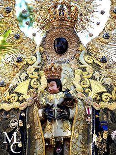 """Our Lady of Regla  (Nuestra Señora de la Regla)    In her sanctuary facing the sea, an old fortress turned into a monastery. On the Paseo de Costa de la Luz on the corner of Avenida de Sevilla, Region Cádiz. Probably 12/13th century, wood, 62 cm."""